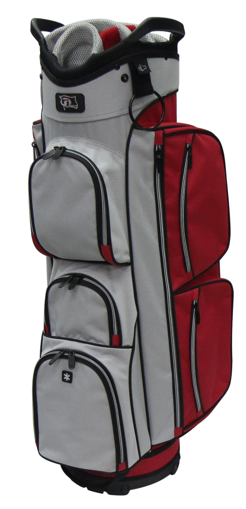 RJ Sports EL-680 True Cart Bag, 9.5'', Red/Grey by R J Sports