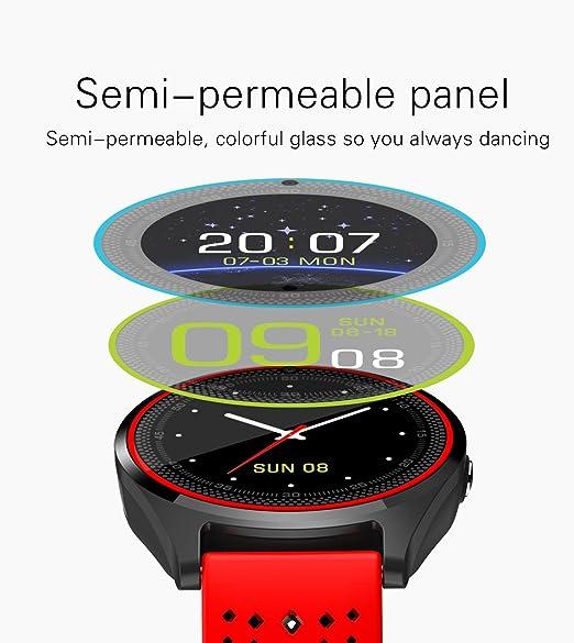 Bluetooth Smart reloj V9 con cámara Smartwatch podómetro salud Deporte reloj horas hombres mujeres reloj inteligente para Android IOS: Amazon.es: ...