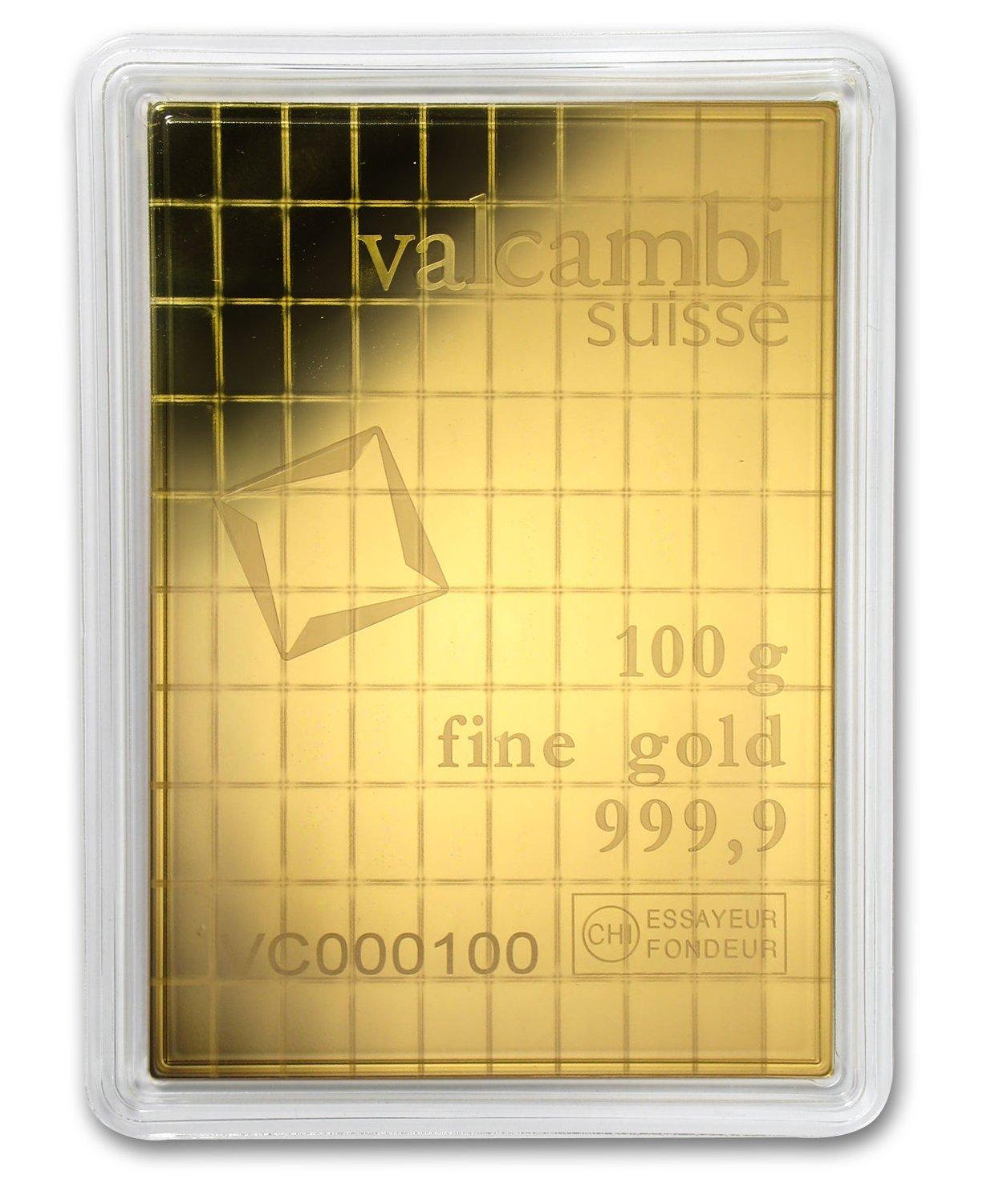 100x 1 gram Gold CombiBar - Valcambi (In Assay)