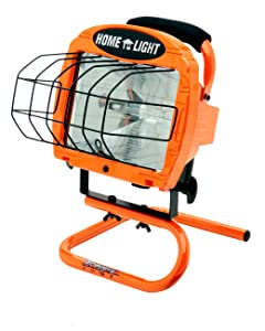 Woods L33 Cci Contractor Portable Work Light with Switch, 120 V, 500 W Halogen Lamp, Watt, Orange