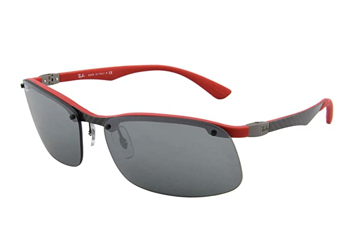 RAY BAN Gafas de sol RB 8314 126/6G Oscuro Carbon Red Rubber ...