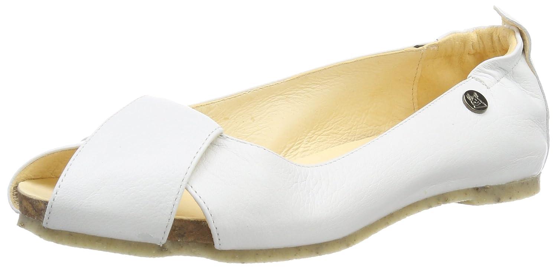 Jonny's Damen Britta Peeptoe Weiß Ballerinas Weiß Peeptoe (Blanco) 27d174