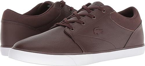 9c1e241b9 Lacoste Men s Minzah 318 Pebbled Leather Court Fashion Sneaker Shoes ...