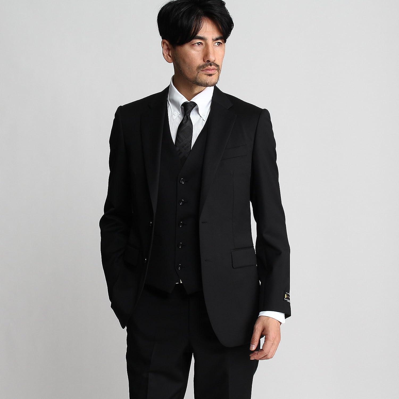 (タケオキクチ) TAKEO KIKUCHI サージシングルジャケット[ メンズ スーツ 結婚式 ] 07044001 B078X1J47C 01(S)|ブラック(019) ブラック(019) 01(S)