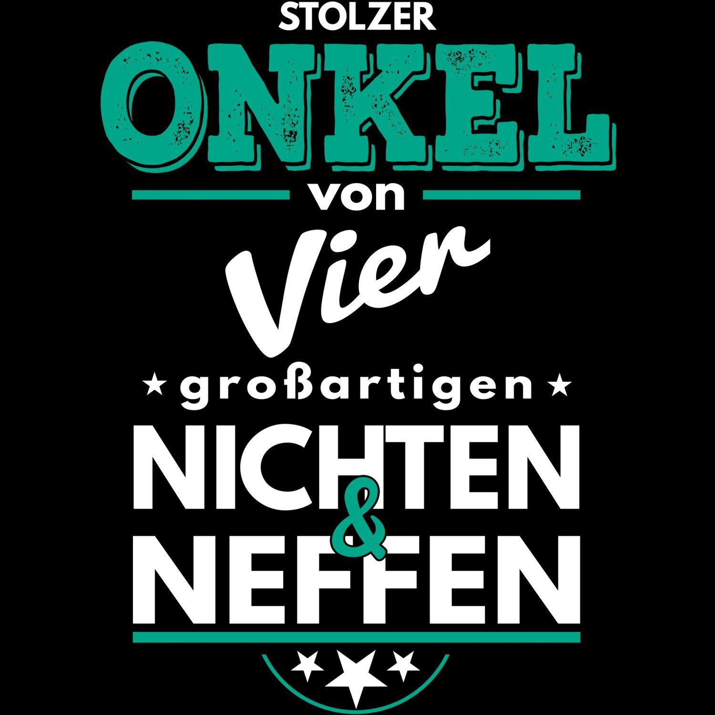 Fashionalarm Herren Kapuzenpullover - Stolzer Onkel von 4 ...
