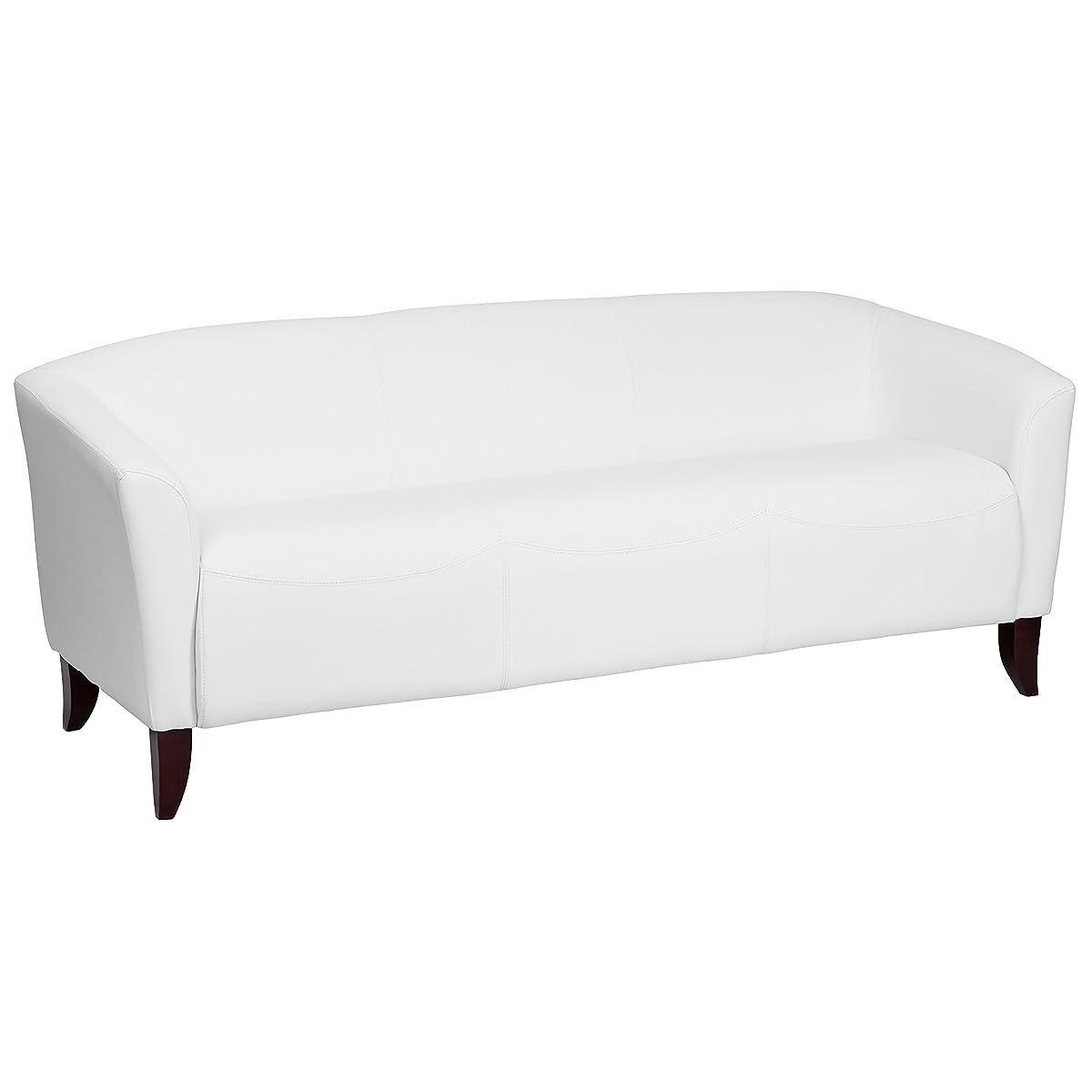 Flash Furniture HERCULES Imperial Series White Leather Sofa