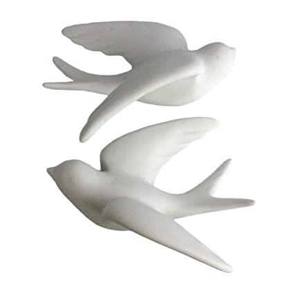 Amazon pair of wall mount ceramic sparrows white large pair of wall mount ceramic sparrows white large thecheapjerseys Gallery