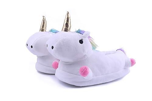 Lovelysi Zapatillas De Estar por Casa,LED Unicornio Felpa Suave Calentar Zapatillas Mujer Hombre Niñas Niños Animal Zapatos Invierno: Amazon.es: Zapatos y ...