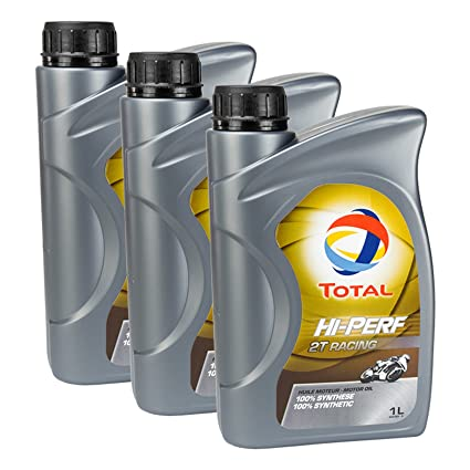3 x Aceite total de alta Performance 2T Racing 1L: Amazon.es ...