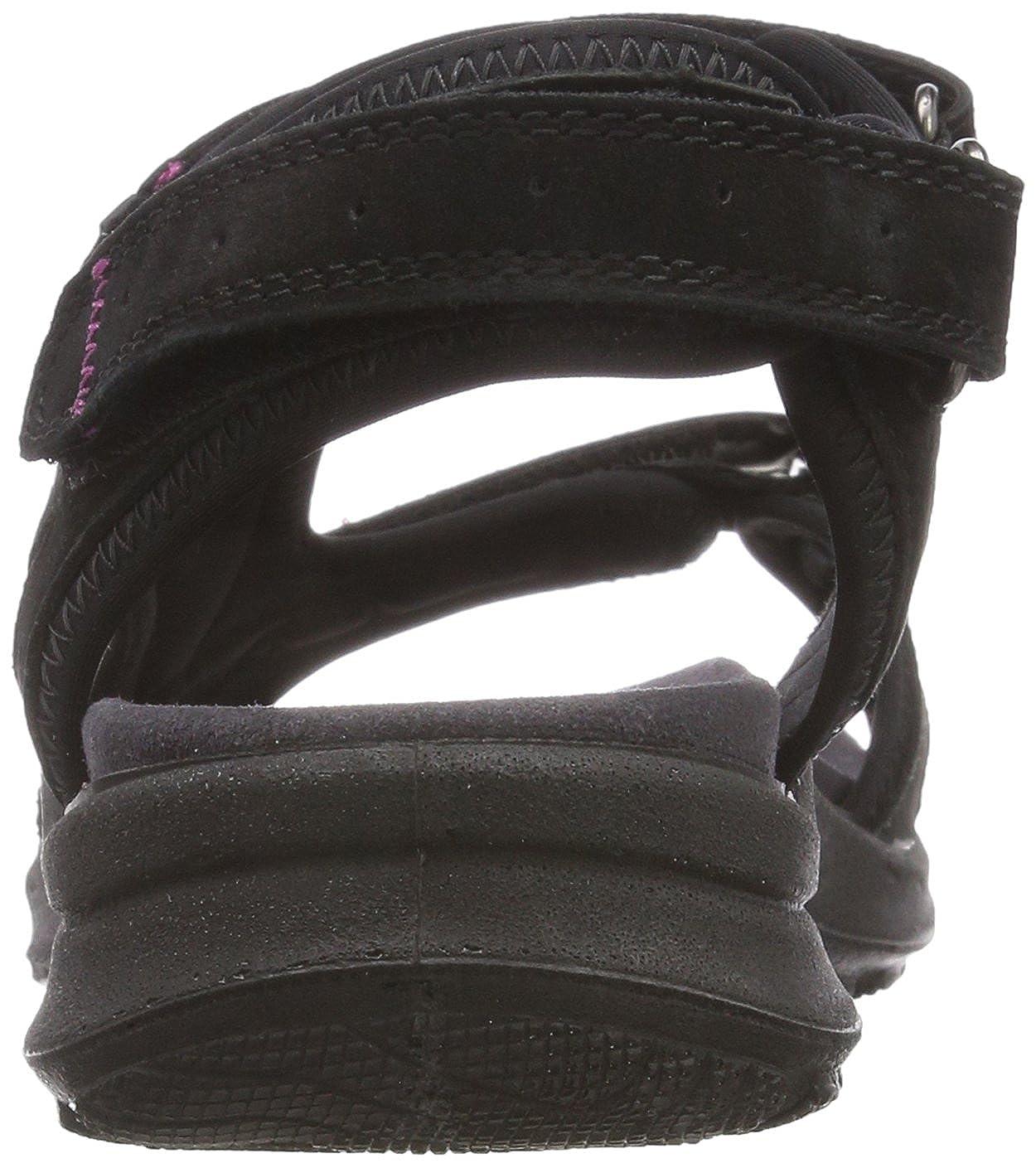 Legero Siris Damen Offene Schwarz Sandalen mit Keilabsatz Schwarz Offene (Schwarz) 6ef18b