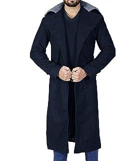 TrendHoop Black Wool Cape Long Trench Coat Jacket