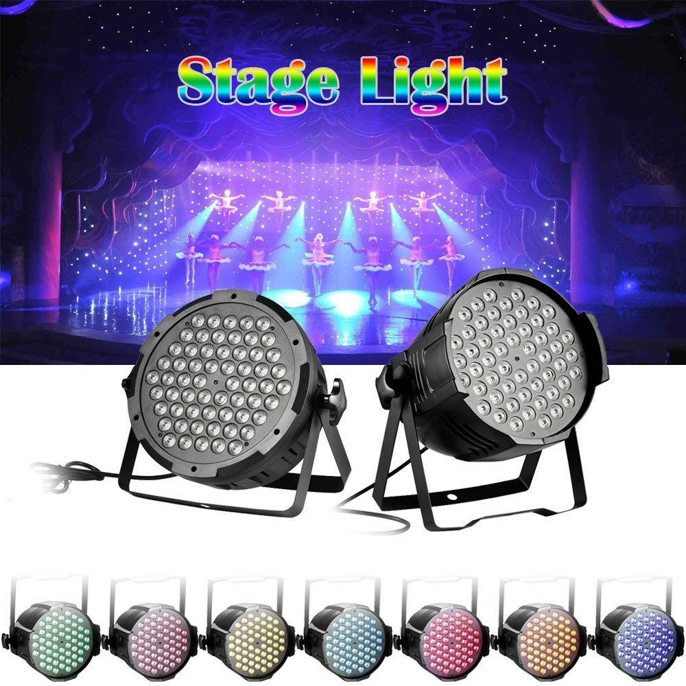 160W HimanJie Projecteur professionnel /à 7 canaux DMX-512 LED RGBW Disco Projecteur Spot Lampe de Sc/ène Effet DJ D/éco Soir/ée F/ête Concert Bar