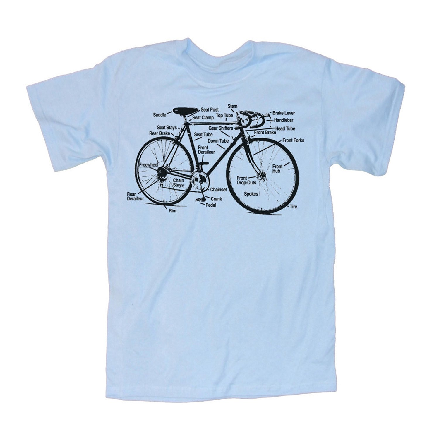 Happy Family Retro Racing Bike Diagram Mens T Shirt Of A Bicycle Clothing