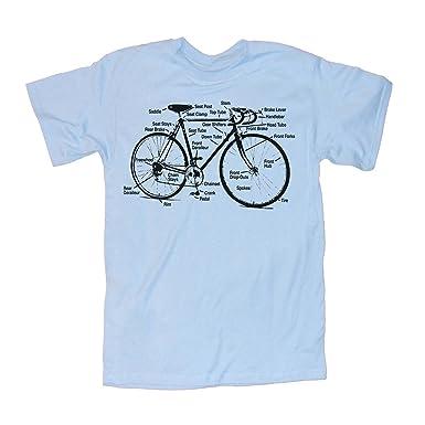 Amazon Happy Family Retro Racing Bike Diagram Mens T Shirt