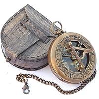 Vintage kompas Sundial door Euphoria kompas geschenk| kompas gegraveerd|kompas doos| kompas navigatie| kompas in een…