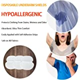 Disposable Underarm Sweat Pads Fight Hyperhidrosis With Underarm Sweat Pads for women and mend Disposable Garment Guards For Women and Men, 40 PCS(20 Pair Individually Wrapped),Size 4.92*4.53 inch