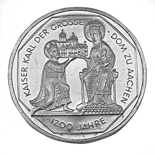Silber Münze Offizielle 10 Dm Gedenk Münze Karl Der Große 800