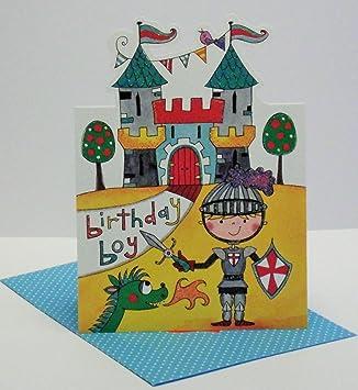 Rachel Ellen Geburtstagskarte, Motiv Ritter und: Amazon.de: Elektronik