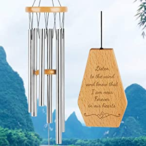 kullder Memorial Wind Chimes, Personalized Chimes, Sympathy Chimes, Wind Chimes for Loss of Love One, Large Wind Chimes, Outdoor Wind Chime