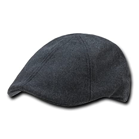 55fab87a09a Amazon.com  CHARCOAL GREY MELTON WOOL 6 PANEL IVY CAP HAT SIZE SM MD   Everything Else