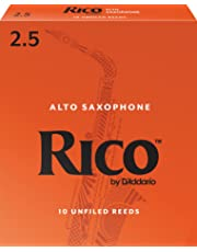 Rico by D'Addario Alto Sax Reeds, Strength 2.5, 10-pack - RJA1025