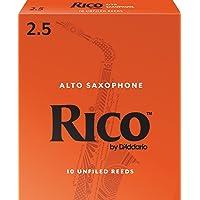 Rico by D'Addario RJA1025 Alto Sax Reeds, Strength 2.5, 10-pack