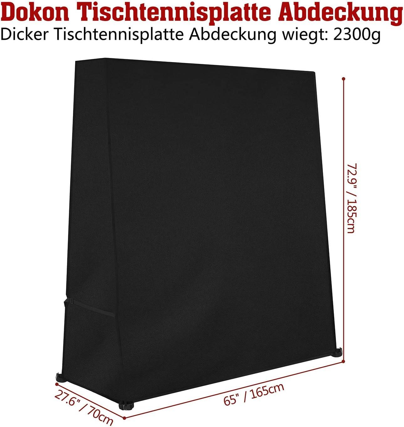 Tischtennisplatte Abdeckung Wasserdicht Tischtennis Abdeckhaube 165X70X185cm