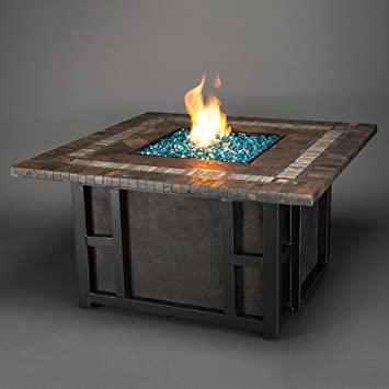 Agio Springfield Gas Fire Pit With Copper Reflective Fire Glass