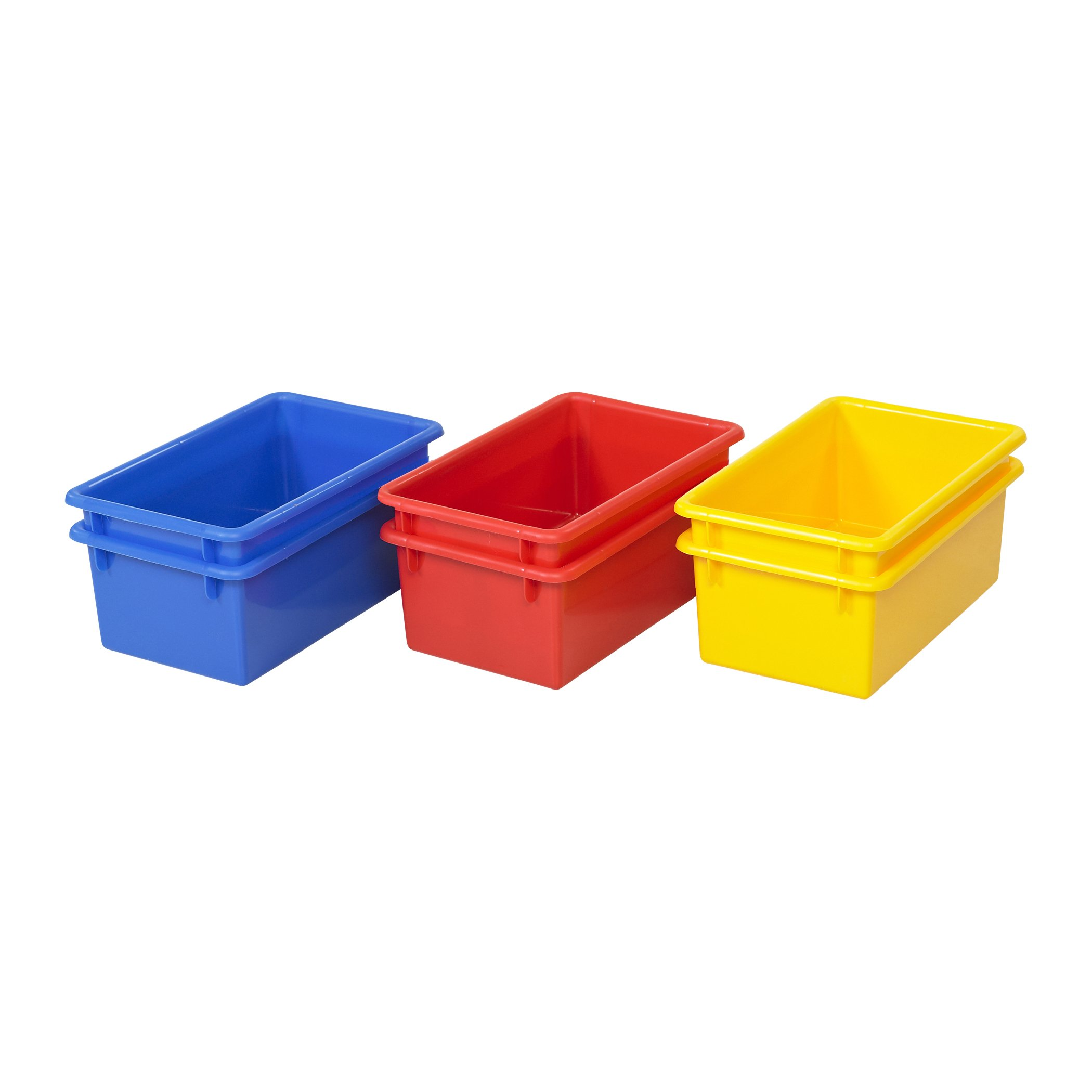 ECR4Kids Stack and Store Tubs, Assorted (6-Pack) by ECR4Kids