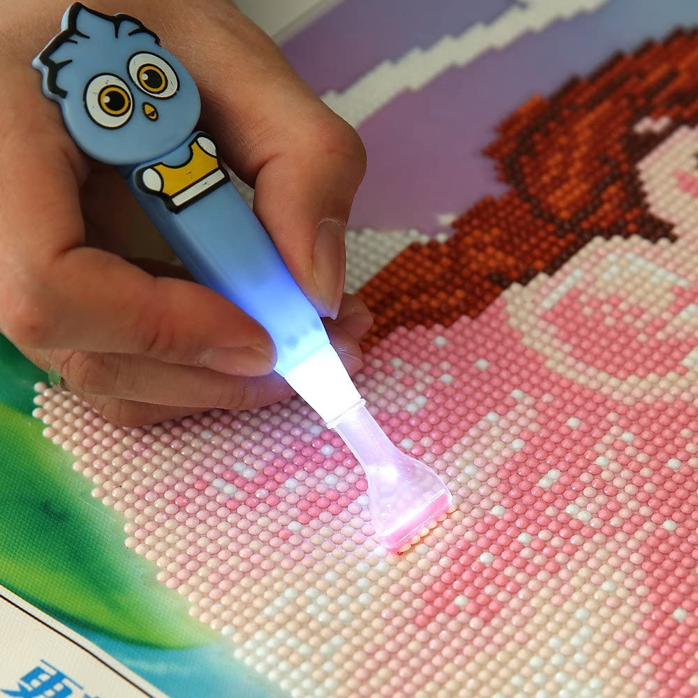 40*50CM DIY  Diamond Picture Painting Craft with Luminescent Pen for Home Decor