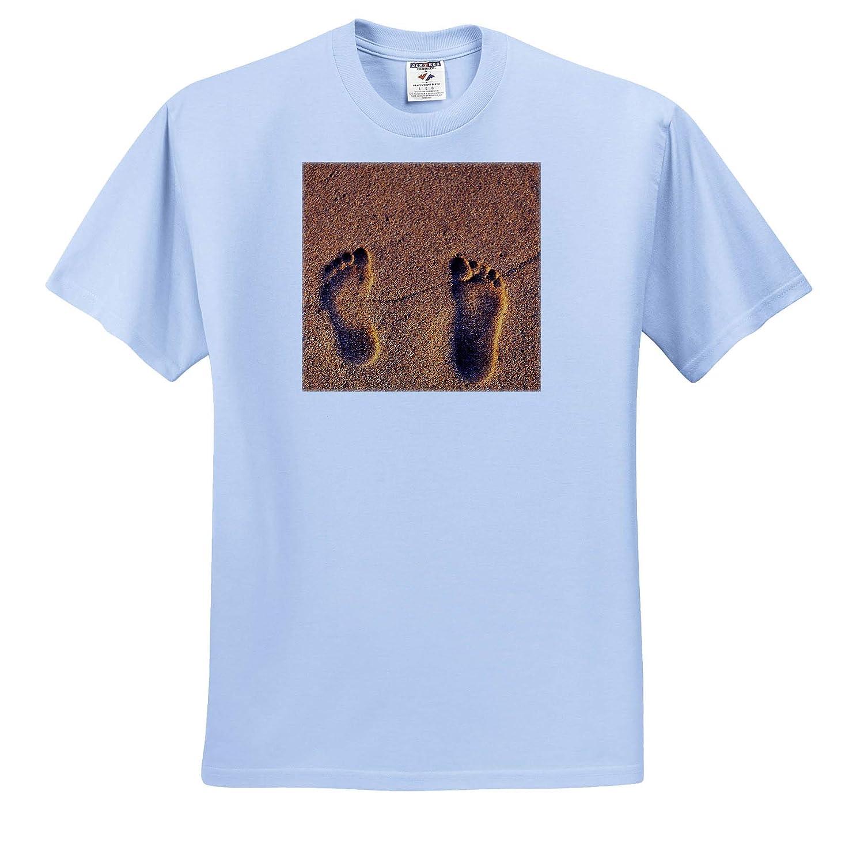 Hawaii Kauai - Adult T-Shirt XL 3dRose Danita Delimont Beaches Footprints in The Sand on a Hawaii Beach ts/_313123