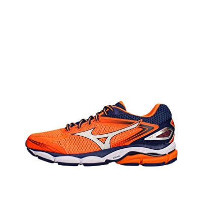 f7f49afcde2fb Mizuno Wave Ultima 8 Clownfish   White   Blue Depths UK 10.5