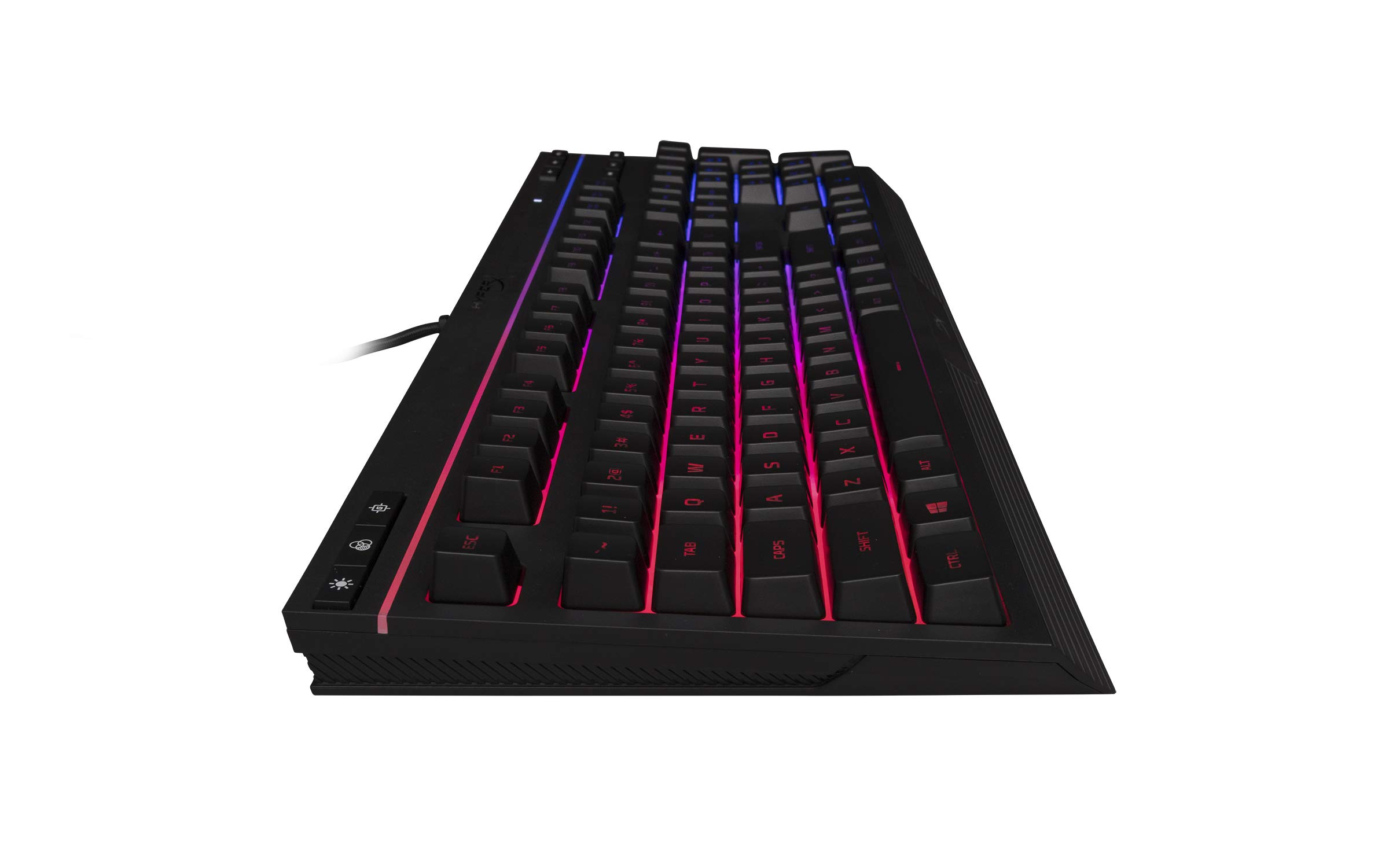 HyperX Alloy Core RGB – Membrane Gaming Keyboard – Comfortable Quiet Silent Keys with RGB LED Lighting Effects, Spill Resistant, Dedicated Media Keys, Compatible with Windows 10/8.1/8/7 – Black by HyperX (Image #3)