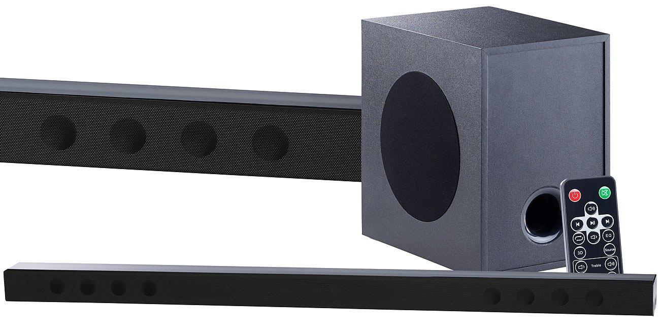 auvisio Heimkino-Soundbars: Soundbar mit Bluetooth, 3D-Sound-Effekt ...