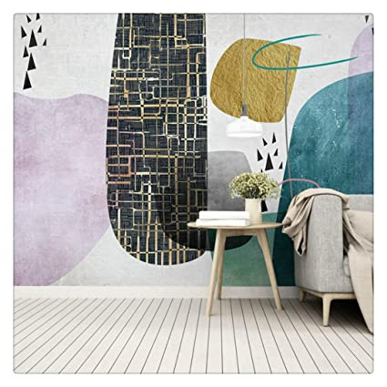 3D Pink and Blue Wallpaper Geometric Pattern Black and White ...