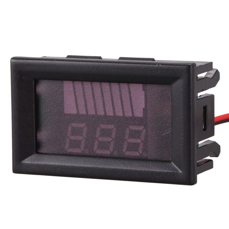 Gaoominy 12V-60V Compteur De Batterie De Voiture /électrique Affichage DC Voltm/ètre De Voiture De Batterie Au Lithium Num/érique