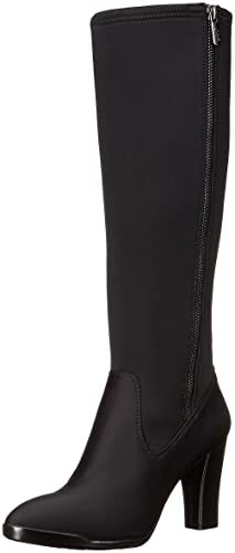AK Anne Klein Sport Women's Elek Fabric Winter Boot, Black, 7.5 M US