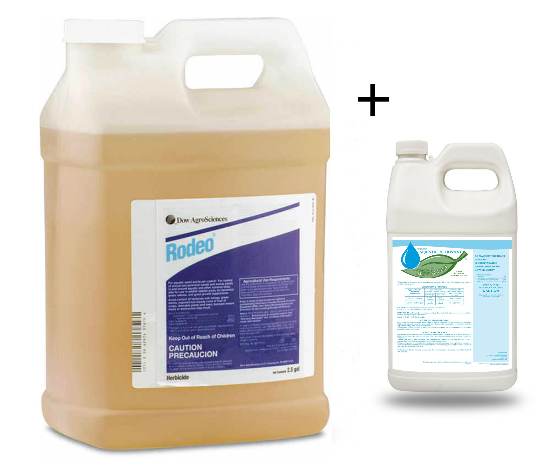 Rodeo Herbicide with Aquatic AB Adjuvant Non-Ionic Activator Penetrant 2.5 Gallon