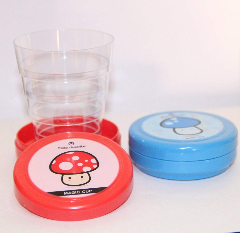 Homiki Plastique Pliable Pliable Magic Cup Lot de 2 pi/èces