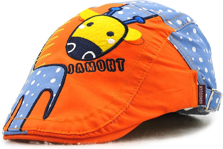 Cute Giraffe Kids Visor Cap Boy Girl Berets Hats Casquette Cotton Patchwork Children Sun Hat bredLily