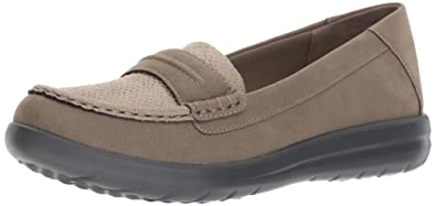 CLARKS Women's Jocolin Maye I Flat, Sage Synthetic, ...