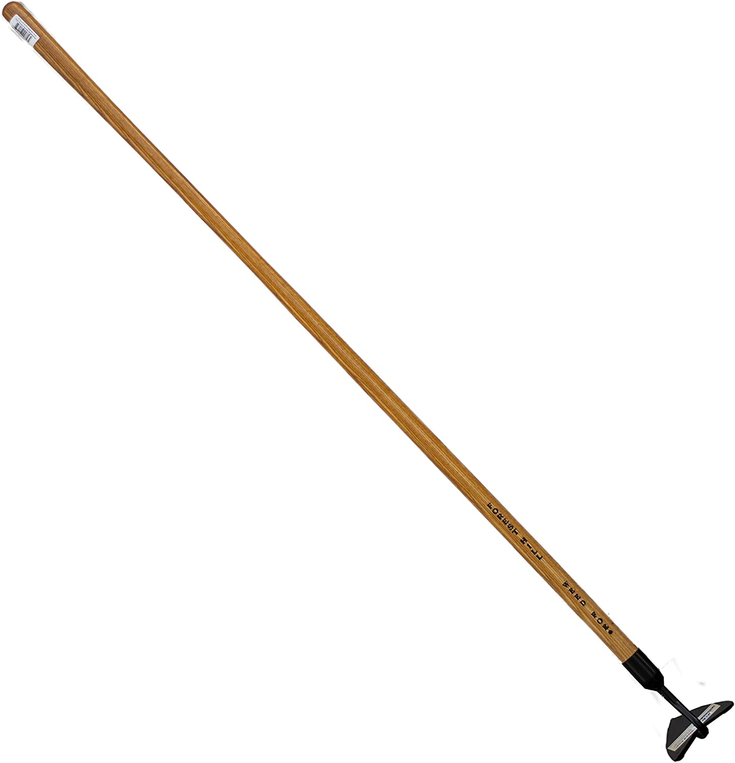 FOREST HILL Weed Foe Hardened and Tempered Spring Steel, Solid Ash Wood Handle Hoe (Warren, 6.37 x 4.75-inch)