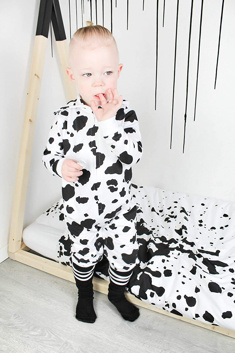 Cute COW Baby All In One Outfit RomperBoys Girls Clothes GiftsBABY MOO/'S