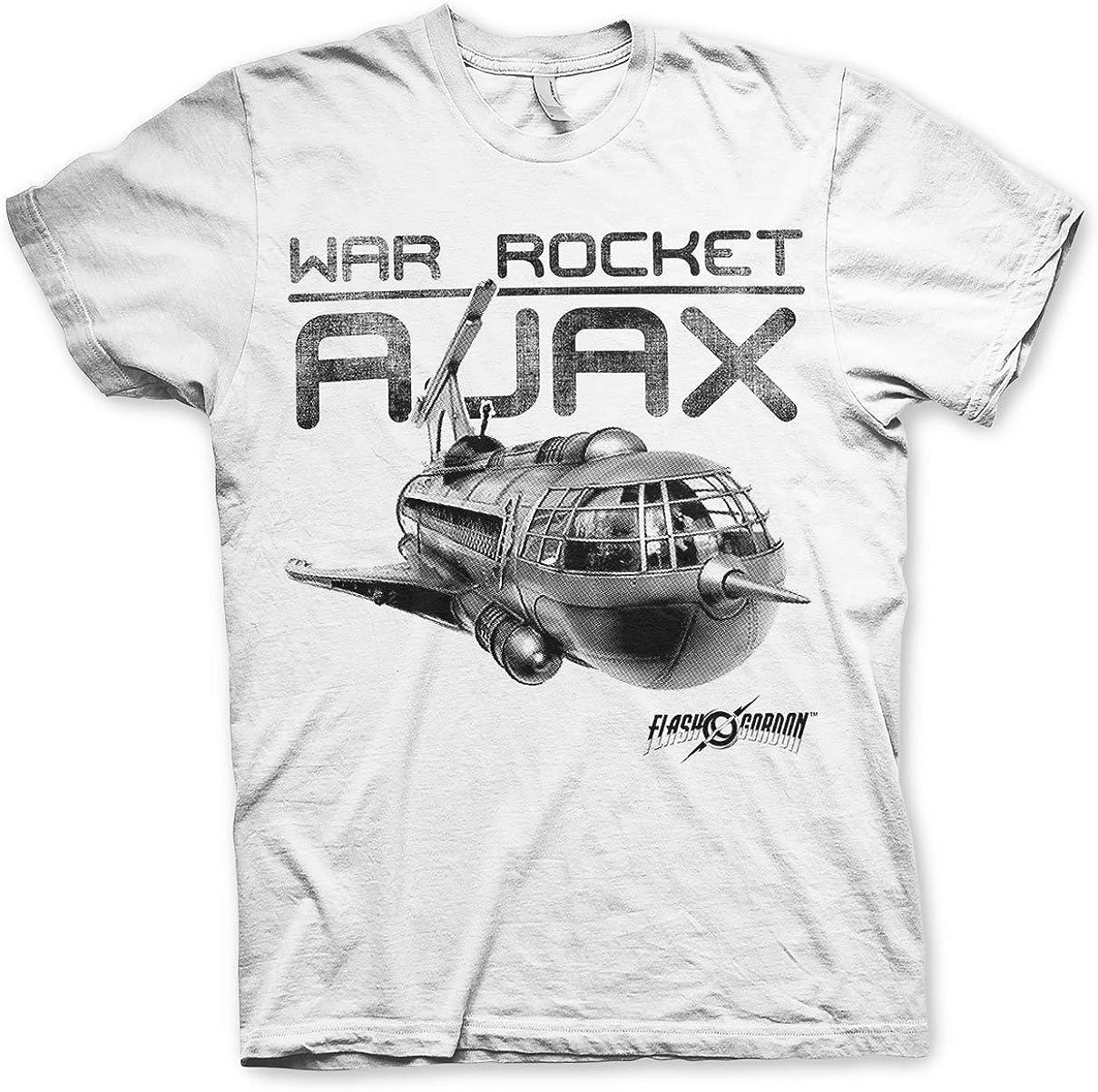 Oficialmente Licenciado War Rocket AJAX Hombre Camiseta (Blanco ...