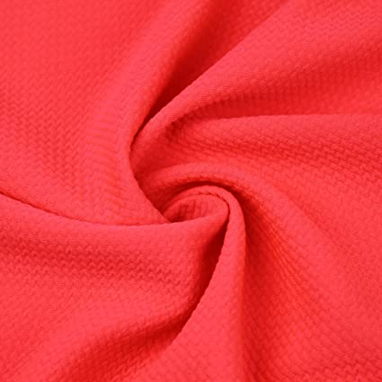 25a74f6d9a3 Image Unavailable. Image not available for. Color: Coral Neon Bullet Poly  Spandex Jersey Knit Fabric