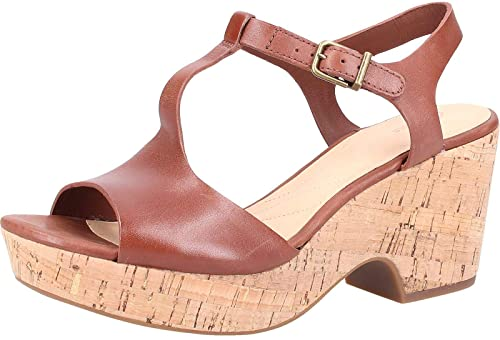 afc89eefac3b9 Clarks Women's Maritsa Carie 26142157 Open Toe Sandals Brown Size: 2.5 UK