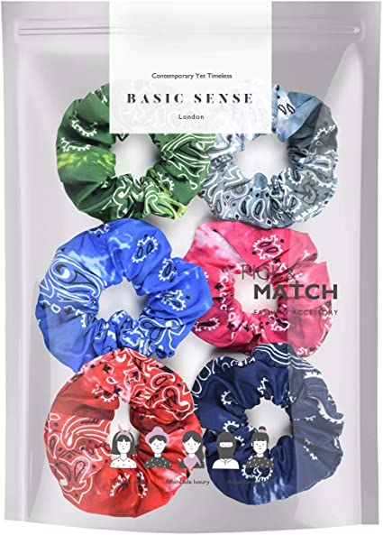 Black and blue shimmering scrunchie Christmas gifts for women