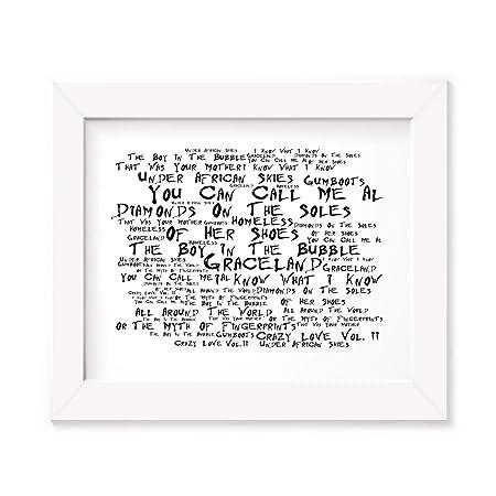 Paul Simon Poster Print - Graceland - Letra firmada regalo ...