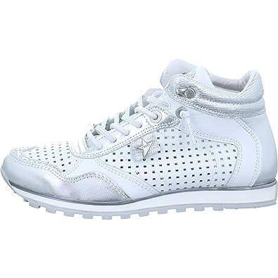 Cetti Damen Sneaker C-1048-SRA-espejo/plata/blanco weiß 425887