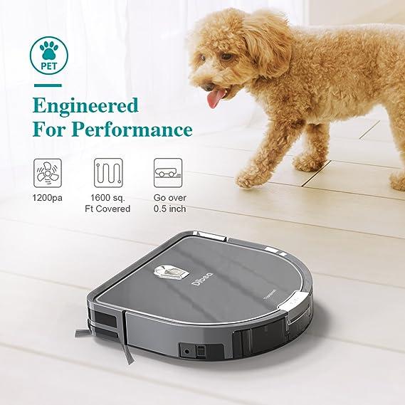 Amazon.com: Dibea Robot Vacuum Cleaner Mopping Water Tank, 1200pa High Suction, Self-Charging Drop-Sensing Robotic Vacuum Pet Hair Hard Floor DT966: Home & ...